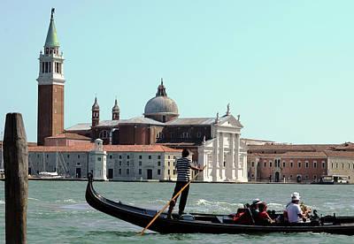 Gandola Rides In Venice Poster