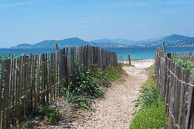 Ganivelles (fences) And Pathway To The Beach Poster by Alexandre Fundone