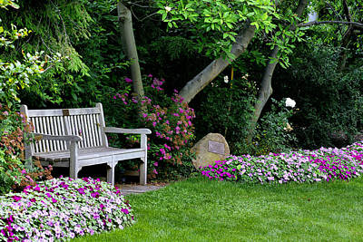 Poster featuring the photograph Garden Bench by Michelle Joseph-Long