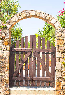 Garden Gate Poster by Tom Gowanlock