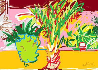 Garden Palm Poster by Anita Dale Livaditis