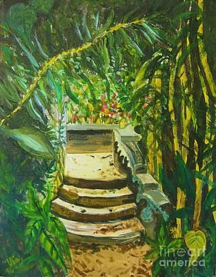 Poster featuring the painting Garden Passage by Judy Via-Wolff