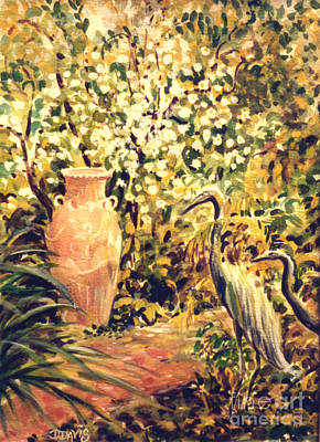 Poster featuring the painting Garden Sentinels by Dee Davis
