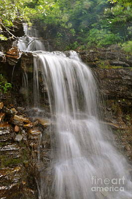 Poster featuring the photograph Garden Wall Waterfall by Johanne Peale