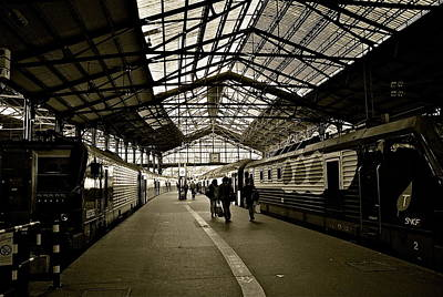 Poster featuring the photograph Gare De Saint Lazare by Eric Tressler