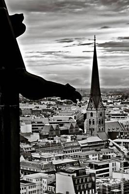 Gargoyle Over Hamburg Poster by Edward Myers