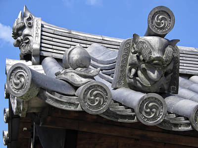 Gargoyles Of Horyu-ji Temple - Nara Japan Poster by Daniel Hagerman