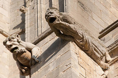Poster featuring the photograph Gargoyles On Ely Cathedral by Andrew  Michael