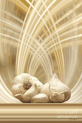 Poster featuring the digital art Garlic by Johnny Hildingsson