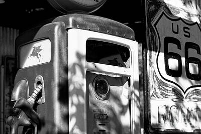Gas Pump And Sign Poster