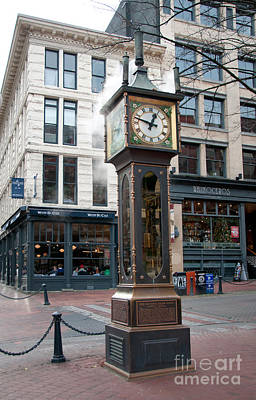 Gastown Steam Clock Poster by Carol Ailles