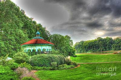 Gazebo At Eden Park Poster