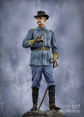 General John Buford At Gettysburg Poster by Randy Steele