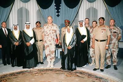 General Norman Schwarzkopf With Shaikh Poster