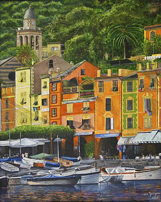 Poster featuring the painting Genoa Marina by Stuart B Yaeger
