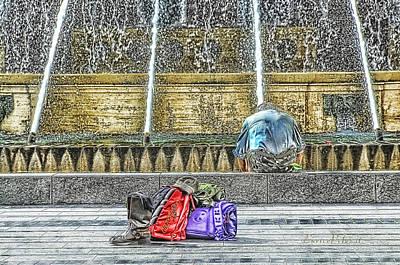 Genoa Sweet Hitchhiker In De Ferrari Square Poster