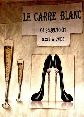 Gentleman's Club Cannes Poster by Christine Burdine