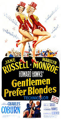 Gentlemen Prefer Blondes, Jane Russell Poster