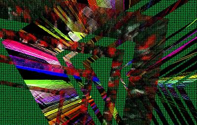 Geometric Digital Art Poster by Mario Perez