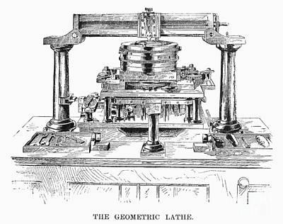 Geometric Lathe, 1890 Poster