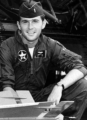 George W. Bush As A 1st Lt Poster