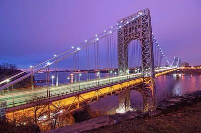 George Washington Bridge Poster by Photography by Steve Kelley aka mudpig