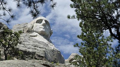 George Washington On Mt Rushmore Poster
