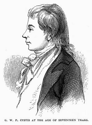 George Washington Parke Custis (1781-1857). American Playwright And Grandson Of Martha Washington. Engraving, 19th Century Poster