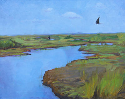 Poster featuring the painting Georgia Marsh by Rachel Hames