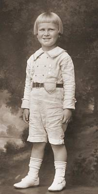 Gerald Ford As A Boy. His Mother Poster by Everett