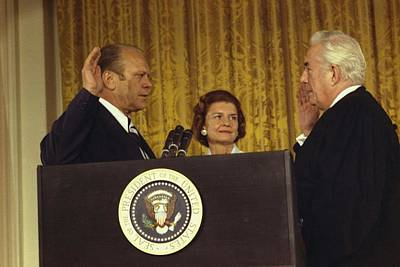 Gerald R. Ford Is Sworn In As The 38th Poster