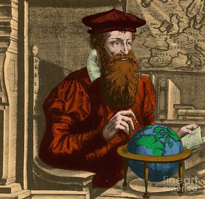 Gerardus Mercator, Flemish Cartographer Poster by Photo Researchers, Inc.