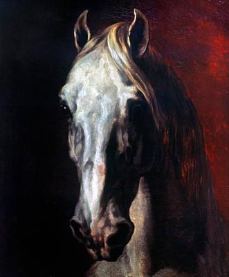 Gericault: White Horse Poster by Granger