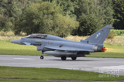 German Eurofighter Trainer Taking Poster