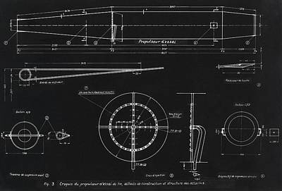 German Wwii Ramjet Engine Blueprint Poster