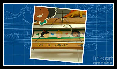 Get The Lead Out Blueprint Poster
