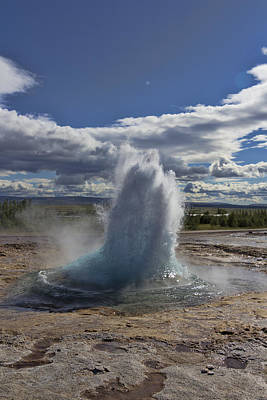 Poster featuring the photograph Geysir 2 by David Gleeson