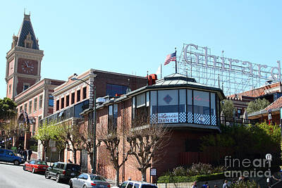 Ghirardelli Chocolate Factory San Francisco California . 7d14093 Poster by Wingsdomain Art and Photography