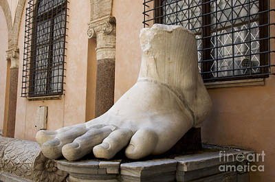 Giant Foot From Emperor Constantine Statue. Capitoline Museum. R Poster by Bernard Jaubert