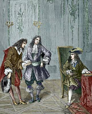 Giovanni Cassini And King Louis Xiv Poster