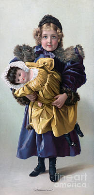 Girl And Doll, 1898 Poster by Granger