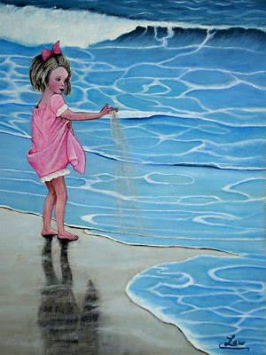 Girl At Beach #1 Poster