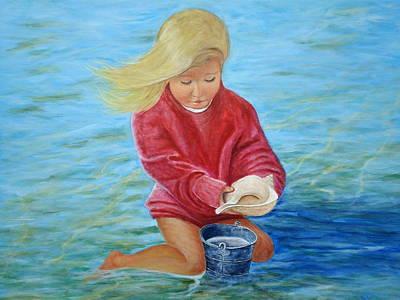 Girl At Beach #2 Poster