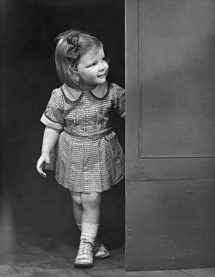Girl Coming Outside Poster