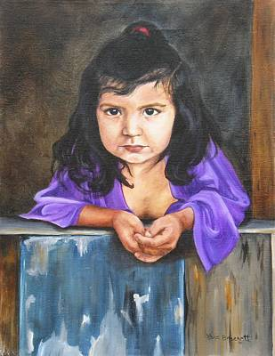 Poster featuring the painting Girl From San Luis by Lori Brackett