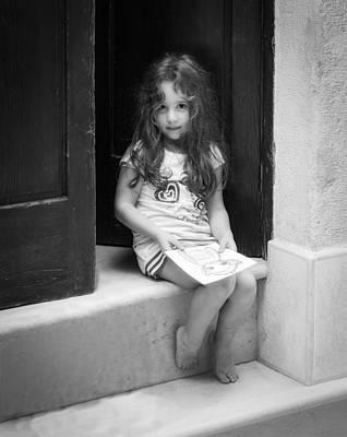 Girl On Doorstep Poster