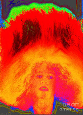 Girl Tossing Her Red Hair 1 Poster by Warren Sarle