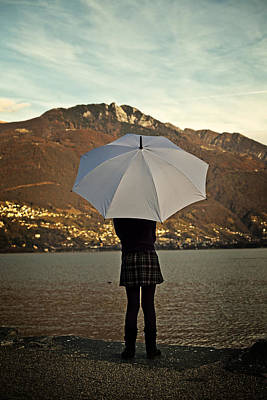Girl With Umbrella Poster by Joana Kruse