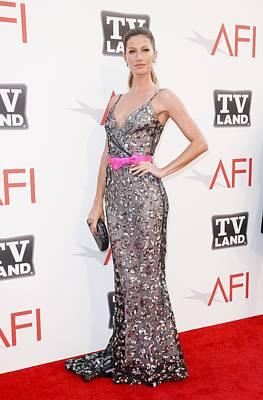Gisele Bundchen Wearing A Dress Poster
