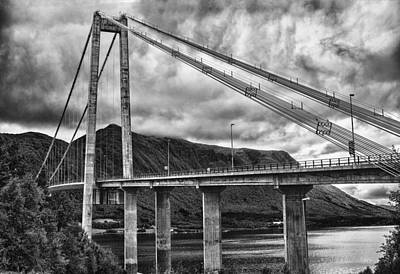 Poster featuring the photograph Gjemnessund Bridge by A A